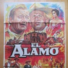 Cine: CARTEL CINE, EL ALAMO, JOHN WAYNE, RICHARD WIDMARK, 1979, C164. Lote 230201175