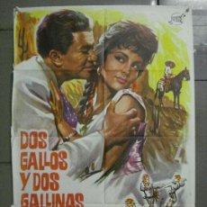 Cine: CDO 7739 DOS GALLOS Y DOS GALLINAS MIGUEL ACEVES MEJIA ESCOBAR POSTER ORIGINAL 70X100 ESTRENO. Lote 230217735