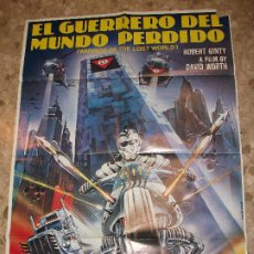 Cine: EL GUERRERO DEL MUNDO PERDIDO WARRIR OF THE LOST WORLD 1983 CARTEL DE CINE 100 X 70 CM. POSTER MOTO. Lote 230228270