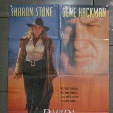 Cine: CDO 7769 RAPIDA Y MORTAL SHARON STONE GENE HACKMAN LEONARDO DICAPRIO POSTER ORIGINAL 70X100 ESTRENO. Lote 230260475