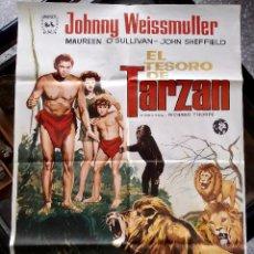 Cine: EL TESORO DE TARZÁN - 1941 (REPOS.1974) - CARTEL ORIGINAL DE CINE - J. WEISSMULLER, M. O'SULLIVAN. Lote 230332085