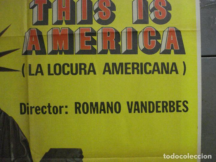 Cine: CDO 7836 LA LOCURA AMERICANA THIS IS AMERICA ROMANO VANDERBES POSTER ORIGINAL ESPAÑOL 70X100 ESTRENO - Foto 7 - 230523345