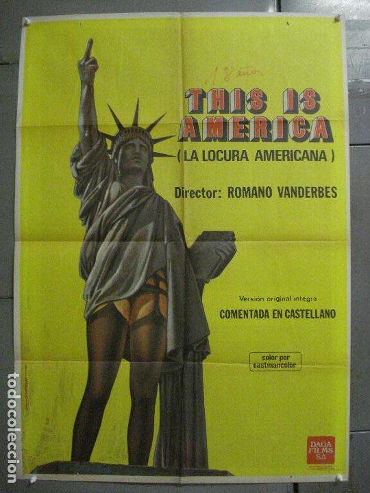 CDO 7836 LA LOCURA AMERICANA THIS IS AMERICA ROMANO VANDERBES POSTER ORIGINAL ESPAÑOL 70X100 ESTRENO (Cine - Posters y Carteles - Documentales)
