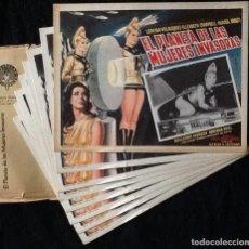 Cine: EL PLANETA DE LAS MUJERES INVASORAS - ALFREDO B. CREVENNA - LORENA VELÁZQUEZ - LOBBY CARDS. Lote 230607280