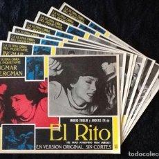 Cine: INGMAR BERGMAN - EL RITO - LOBBY CARDS. Lote 230663095