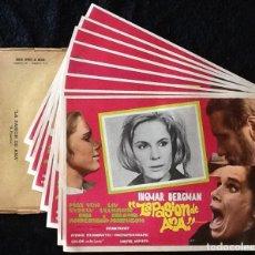 Cine: INGMAR BERGMAN - LA PASIÓN DE ANA - MAX VON SYDOW, LIV ULLMANN, BIBI ANDERSSON - LOBBY CARDS. Lote 230664880