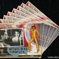 Cine: ROCIO DURCAL - BUENOS DIAS CONDESITA - VICENTE PARRA, GRACITA MORALES - LOBBY CARDS. Lote 230669885