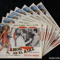 Cine: ROCIO DURCAL - AMOR EN EL AIRE - LOBBY CARDS. Lote 230670275