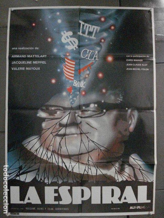 CDO 7872 LA ESPIRAL MATTELART MEPPIEL MAYOUX DOCUMENTAL POSTER ORIGINAL 70X100 ESTRENO (Cine - Posters y Carteles - Documentales)