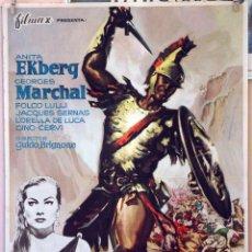 Cine: BAJO EL SIGNO DE ROMA. ANITA EKBERG. CARTEL ORIGINAL 1961. 100X70. Lote 230803165