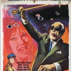 Cine: EL COLECCIONISTA DE CADÁVERES. BORIS KARLOFF. CARTEL ORIGINAL 1968. 70X100. Lote 230833755