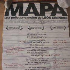 Cine: MAPA - APROX 70X100 CARTEL ORIGINAL CINE (L77). Lote 230934785