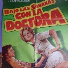 Cinema: CARTEL CINE BAJO LAS SABANAS CON LA DOCTORA 1978 KARIN SCHUBERT ALVARO VITALI ILUSTRA PERCEVAL A 187. Lote 230975715