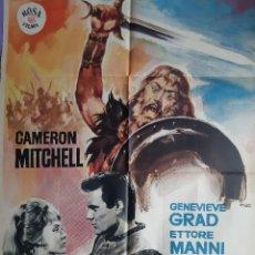 Cinema: CARTEL CINE LOS NORMANDOS CAMERON MITCHEL GENEVIEVE GRAD 1964 ILUSTRA MAD A 191. Lote 230985250