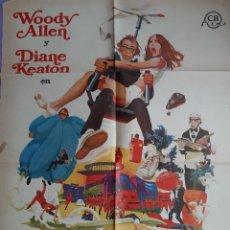 Cinema: CARTEL CINE EL DORMILON WOODY ALLEN DIANE KEATON 1974 A 197. Lote 231005690