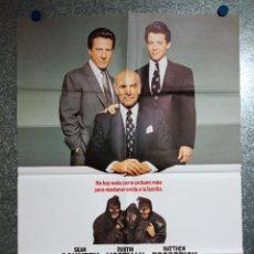 Cine: NEGOCIOS DE FAMILIA. SEAN CONNERY, DUSTIN HOFFMAN, MATTHEW BRODERICK. AÑO 1989. POSTER ORIGINAL.. Lote 231187275
