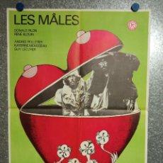 Cine: LOS MACHOS, LES ,MALES DONALD PILON, RENÉ BLOUIN, ANDRÉE PELLETIER POSTER ORIGINAL FRANCES. Lote 269097098