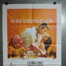 Cinema: LO QUE EL VIENTO SE LLEVÓ. VIVIEN LEIGH, CLARK GABLE, OLIVIA DE HAVILLAND. POSTER ORIGINAL. Lote 231222410