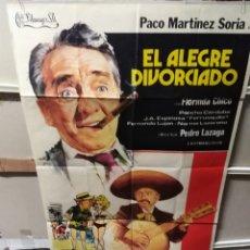 Cine: EL ALEGRE DIVORCIADO PACO MARTÍNEZ SORIA POSTER ORIGINAL 70X100 YY (2500). Lote 231318435