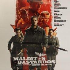 Cine: PÓSTER MALDITOS BASTARDOS. Lote 231412220