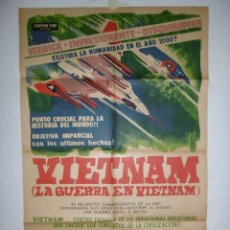 Cine: VIETNAM (LA GUERRA EN VIETNAM) - DOCUMENTAL - LITOGRAFICO - 110 X 75. Lote 231441610