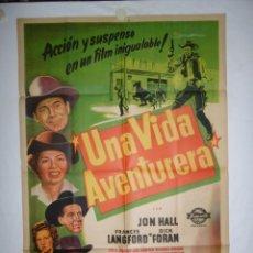 Cine: UNA VIDA AVENTURERA - 1949 - LITOGRAFICO - 110 X 75. Lote 231443065