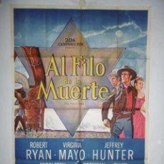 Cine: AL FILO DE LA MUERTE - 1956 - LITOGRAFICO - 110 X 75. Lote 231443290