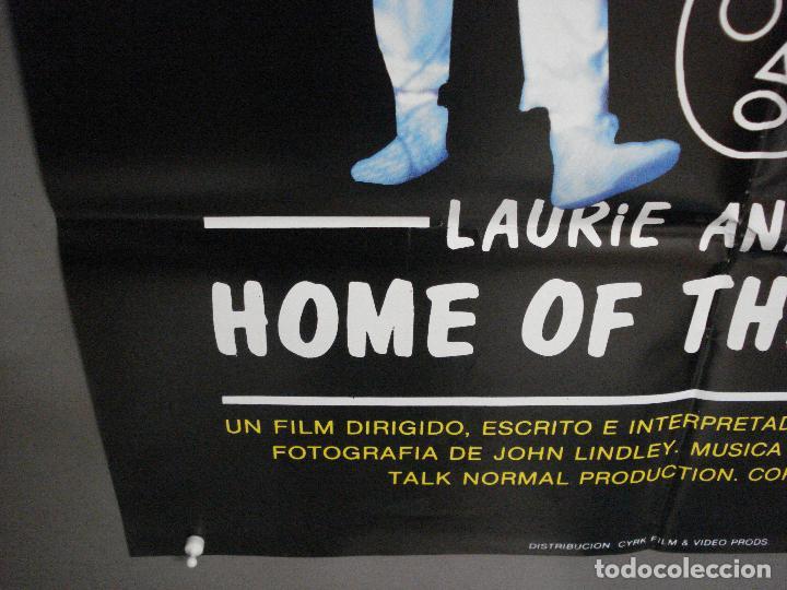 Cine: CDO 7985 HOME OF THE BRAVE LAURIE ANDERSON POSTER ORIGINAL 70X100 ESTRENO - Foto 5 - 231497705