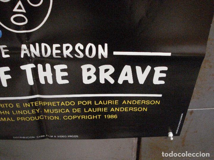Cine: CDO 7985 HOME OF THE BRAVE LAURIE ANDERSON POSTER ORIGINAL 70X100 ESTRENO - Foto 9 - 231497705