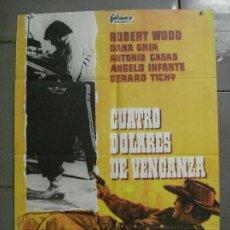 Cine: CDO 8028 CUATRO DOLARES DE VENGANZA ROBERT WOODS BALCAZAR SPAGHETTI POSTER ORIGINAL 70X100 ESTRENO. Lote 231654135