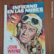Cine: CARTEL. DE LA PELÍCULA, INFIERNO EN LAS NUBES, JOHN WAYNE, ROBERT RYAN. ORIGINAL. BRILLANTE.. Lote 231787445