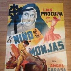 Cinema: CARTEL ORIGINAL EL NIÑO DE LAS MONJAS, LUIS PROCUNA, ANGEL GARASA, RAQUEL ROJAS. Lote 231817155