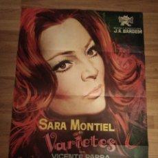 Cine: CARTEL ORIGINAL VARIETIES, SARA MONTIEL, VICENTE PARRA. Lote 231878750