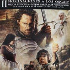 """Cine: PÓSTER EL SEÑOR DE LOS ANILLOS """"EL RETORNO DEL REY"""". Lote 231922265"""