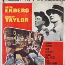 Cine: LA ESFINGE DE CRISTAL. ROBERT TAYLOR-ANITA EKBERG. CARTEL ORIGINAL 1968. 70X100. Lote 232122760