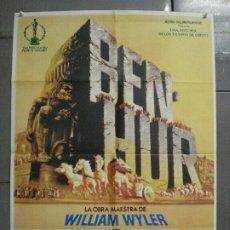 Cine: CDO 8066 BEN HUR CHARLTON HESTON POSTER ORIGINAL ESPAÑOL 70X100 R-81. Lote 232476570