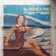 Cine: CARTEL ANTIGUO DE CINE LA GAVIOTA MARIA ANTONIETA PONS RARO. Lote 232542055