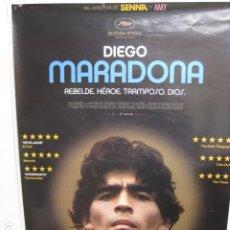 Cinema: DIEGO MARADONA - POSTER CARTEL ORIGINAL - FUTBOL ARGENTINA - ASIF KAPADIA FILM. Lote 232582347