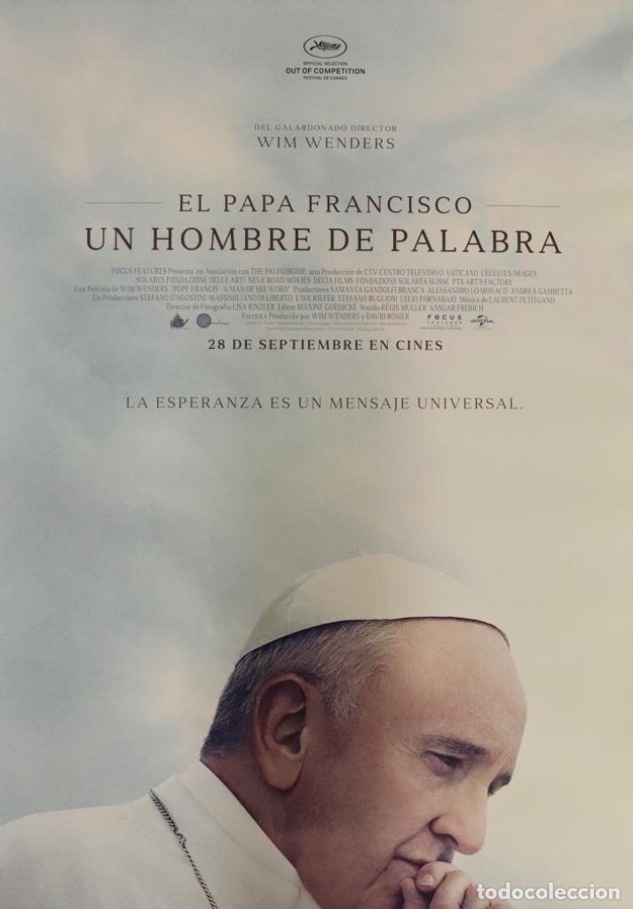 PÓSTER EL PAPA FRANCISCO UN HOMBRE DE PALABRA (Cine - Posters y Carteles - Documentales)