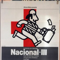 Cine: NACIONAL III. LUIS GARCÍA BERLANGA. CARTEL ORIGINAL 1982. 100X70. Lote 232668050