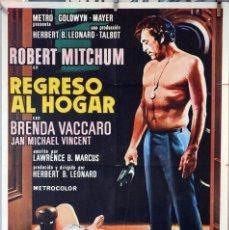 Cine: REGRESO AL HOGAR. ROBERT MITCHUM-BRENDA VACCARO. CARTEL ORIIGINAL 1972. 70X100. Lote 232668260