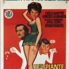 Cine: TRASPLANTE A LA ITALIANA. STENO. CARTEL ORIGINAL 1970. 70X100. Lote 232668560
