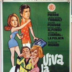 Cine: VIVA LA AVENTURA. FRANCIS RIGAUD. CARTEL ORIGINAL 1970. 70X100. Lote 232670280