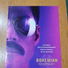 Cine: CARTEL PROMOCIONAL ORIGINAL DE BOHEMIA RHAPSODY, 68 CM X 48 CM, SE ENVÍA EN UN TUBO DE CARTÓN. Lote 232691680