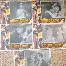 Cine: SARITA MONTIEL 5 CARTELERAS MEXICANAS 32 X 42 CTMS DE LA PELÍCULA EL ÚLTIMO CUPLÉ.... Lote 232701355