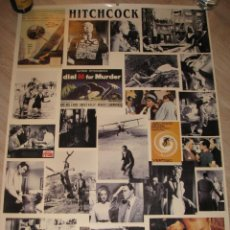 Cine: POSTER CON ESCENAS FAMOSAS DE LAS PELÍCULAS DE ALFRED HITCHCOCK. ED. HAZAN, PARIS 1995. 100X70 CM.. Lote 232756100
