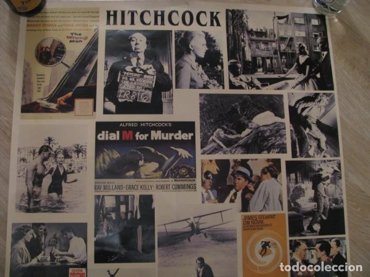 Cine: POSTER CON ESCENAS FAMOSAS DE LAS PELÍCULAS DE ALFRED HITCHCOCK. ED. HAZAN, PARIS 1995. 100X70 CM. - Foto 3 - 232756100