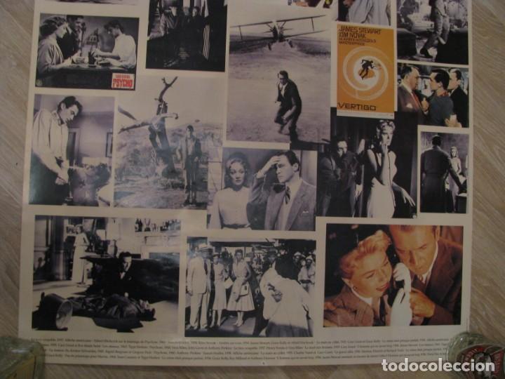 Cine: POSTER CON ESCENAS FAMOSAS DE LAS PELÍCULAS DE ALFRED HITCHCOCK. ED. HAZAN, PARIS 1995. 100X70 CM. - Foto 4 - 232756100