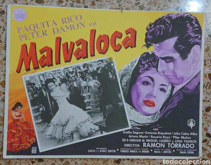 PAQUITA RICO CARTELERA MEXICANA DE LA PELÍCULA MALVALOCA HECHA EN MÉXICO...32 X 42 CTMS... (Cine - Posters y Carteles - Musicales)