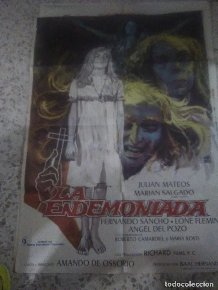 CARTEL PÓSTER DE CINE LA ENDEMONIADA 1975 PELÍCULA DE TERROR (Cine - Posters y Carteles - Terror)